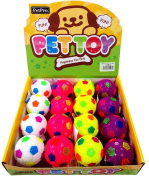 [ペットプロ] 犬おもちゃ サッカーボール笛付 16個入