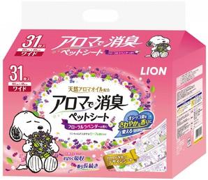 [ライオン商事] アロマで消臭 ペットシート ワイド 31枚