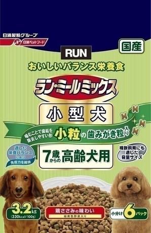 [日清ペットフード] ラン・ミールミックス 小型犬7歳からの高齢犬用 3.2kg