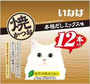 [いなばペットフード] 焼かつお12本入り本格だしミックス味12
