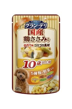 [ユニチャーム] 愛犬元気グラン・デリパウチ 10歳以上用 鶏ささみ・かぼちゃ入り 60g