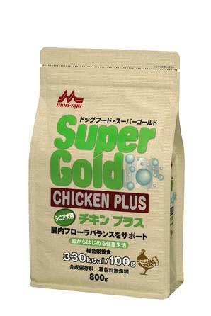 [森乳サンワールド] SuperGold チキンプラス シニア犬用 800g