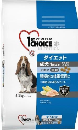[アース・ペット] ファーストチョイス 成犬ダイエット小粒 6.7kg