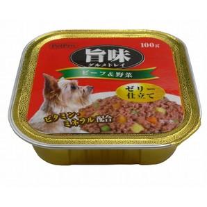 [ペットプロ] 旨味グルメトレイ ビーフ&野菜 100g