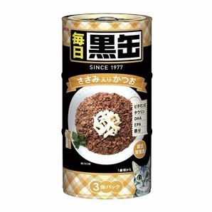 [アイシア] 毎日 黒缶 3P ささみ入りかつお 480g