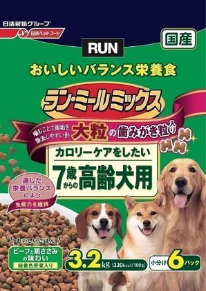 [日清ペットフード] ラン・ミールミックス 大粒7歳からの高齢犬用 3.2kg