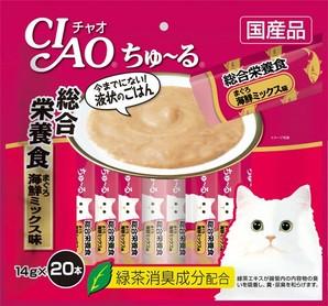 [いなばペットフード] CIAO ちゅ~る 総合栄養食 まぐろ 海鮮ミックス味 14g×20本